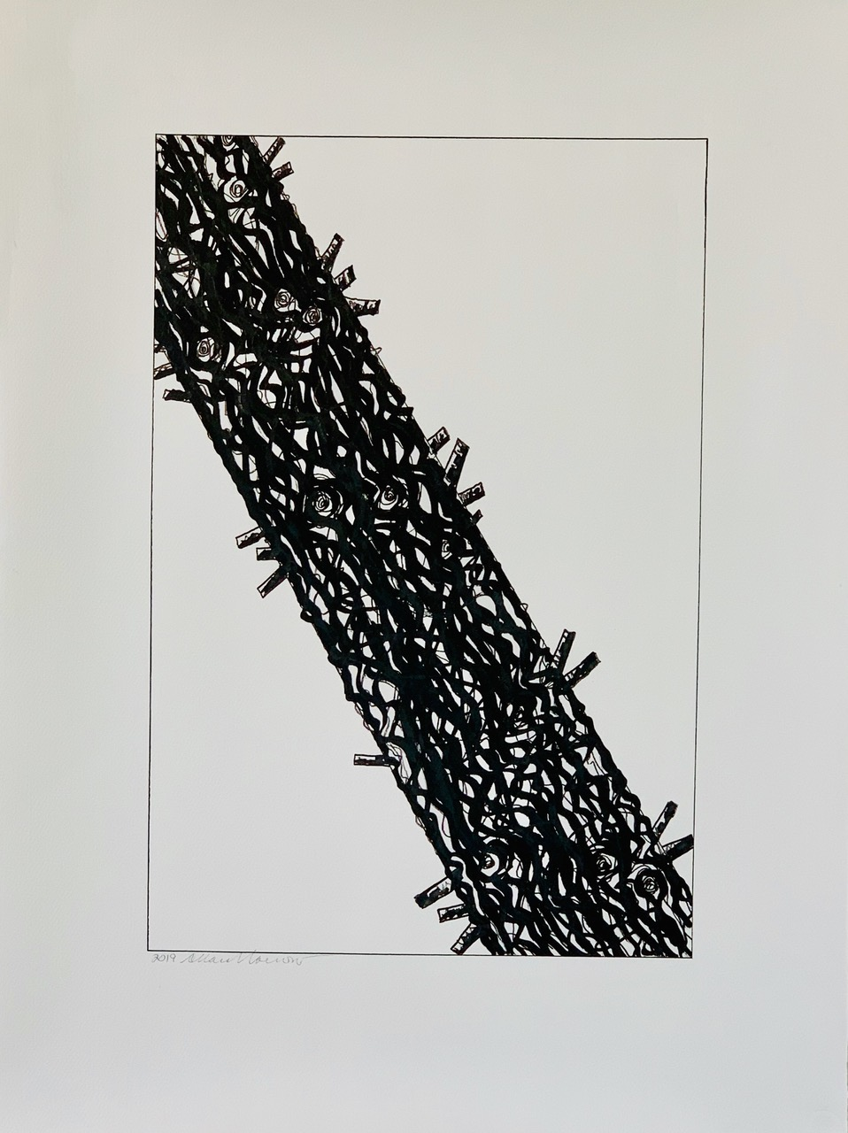 Burnt Tree Drawing 4-AF, 2019