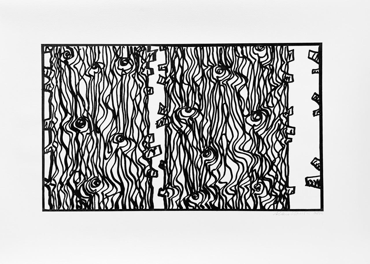 Burnt Trees Drawing 2-AF, 2019