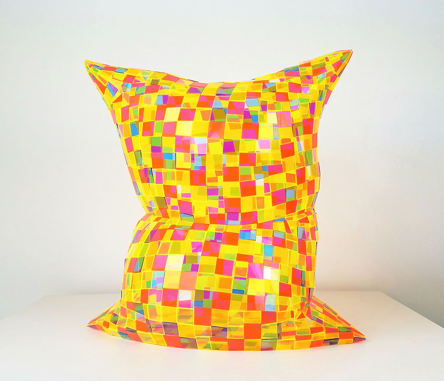 Item 194 - Roberts, Neon Speckled Pillow