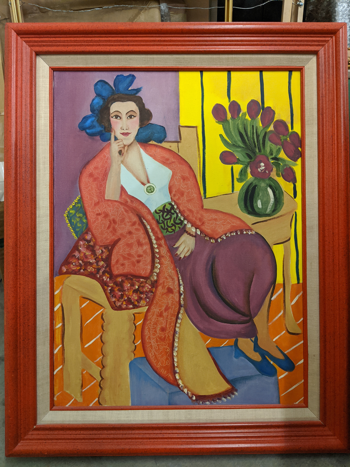 Item 113 - Botts, Woman in a Red Coat After Matisse
