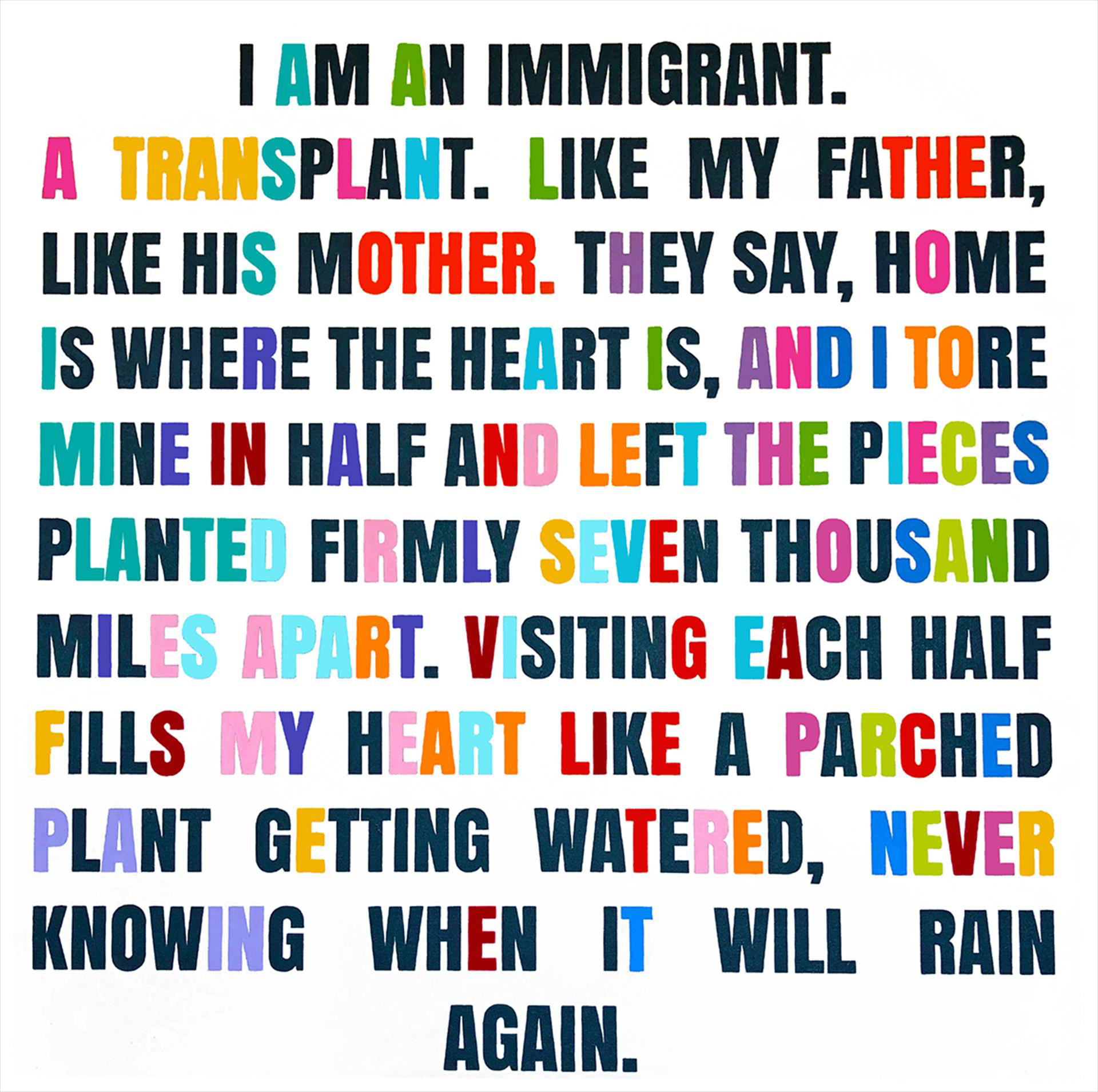 I Am an Immigrant by Michelle Moore