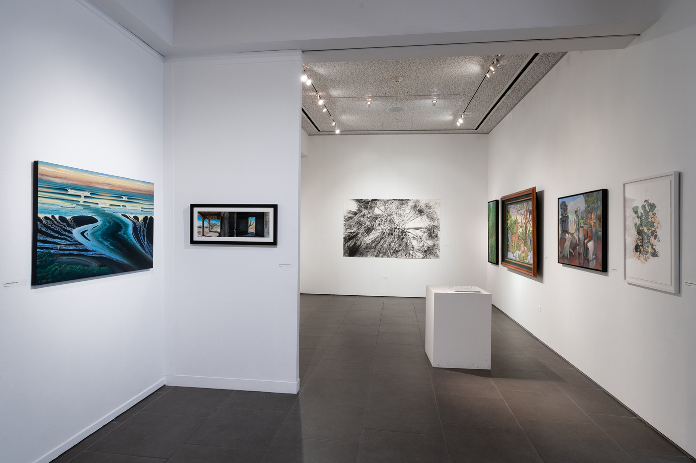Artist Alliance 2019 Biennial exhibition entrance, Groves Gallery South