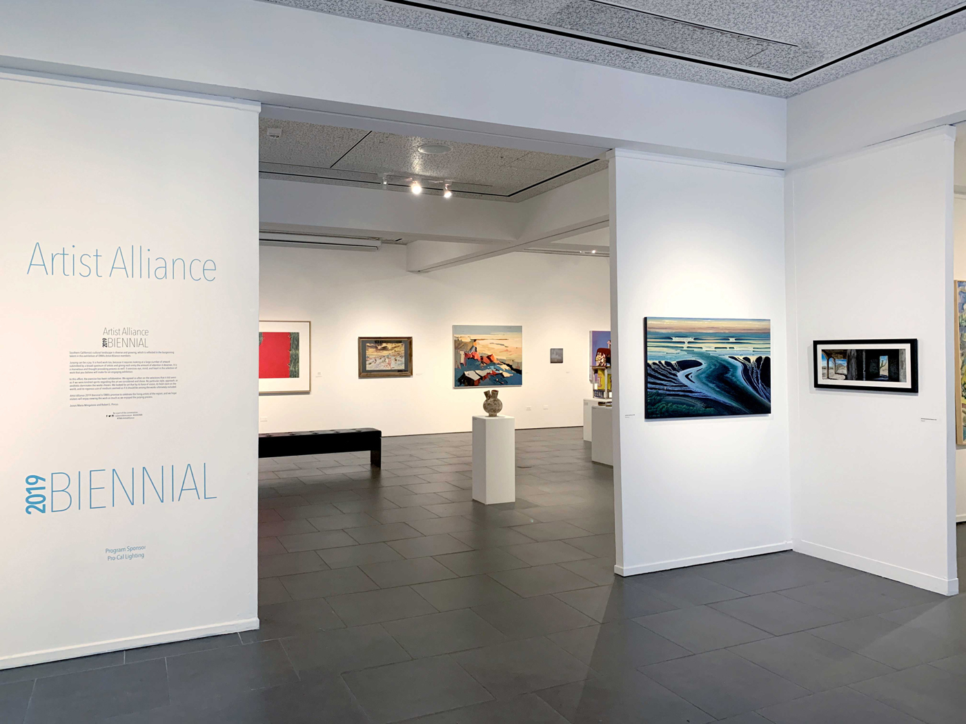 Artist Alliance 2019 Biennial exhibition entrance