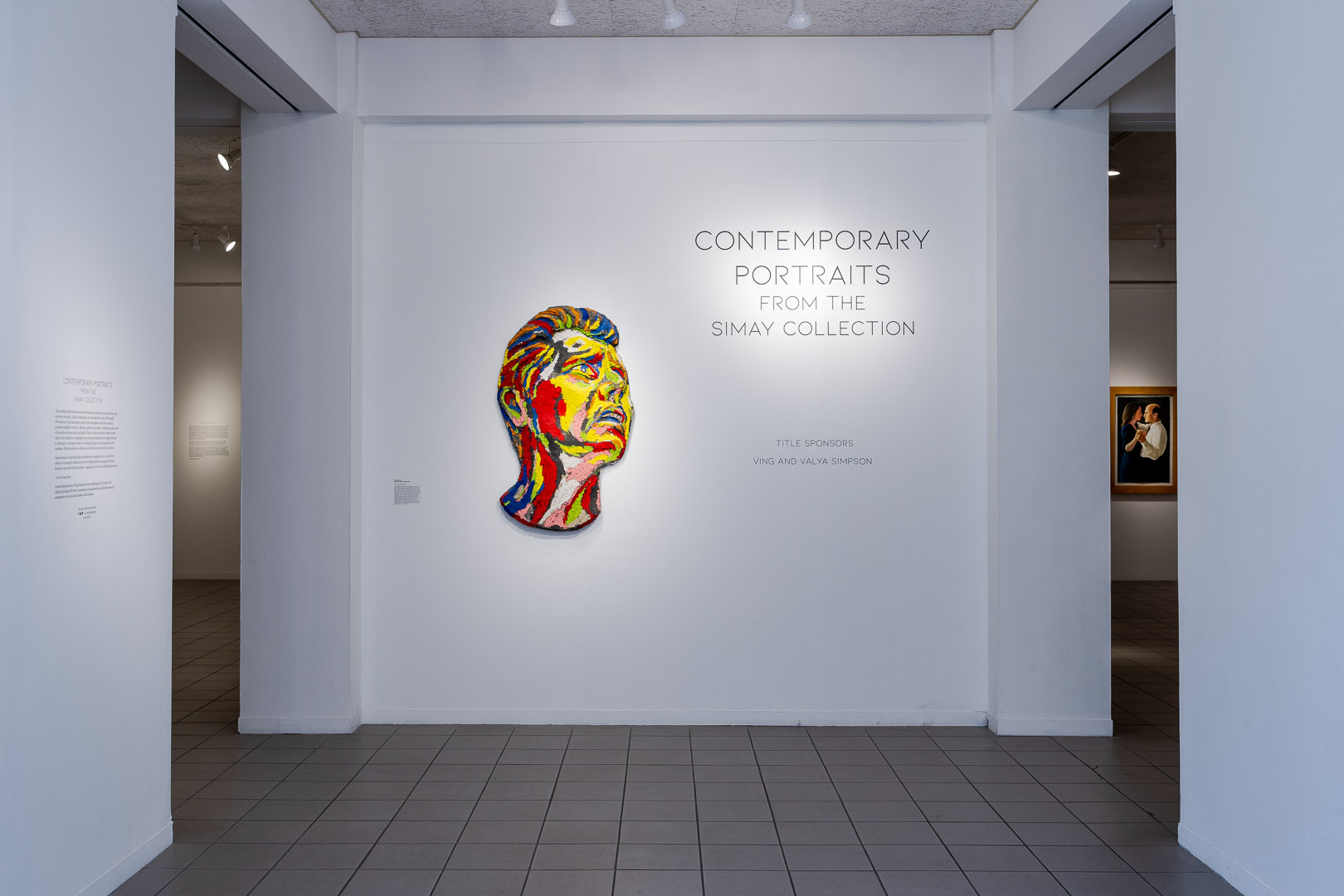 Contemporary Portraits from the Simay Collection installed at OMA