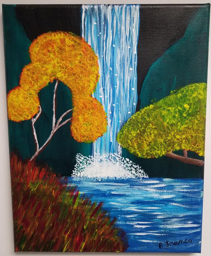 Gentle Waterfall by Parker C. Franco