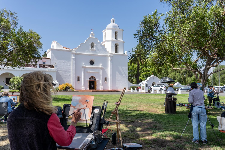 Mission San Luis Rey Quick Paint Challenge, July 27