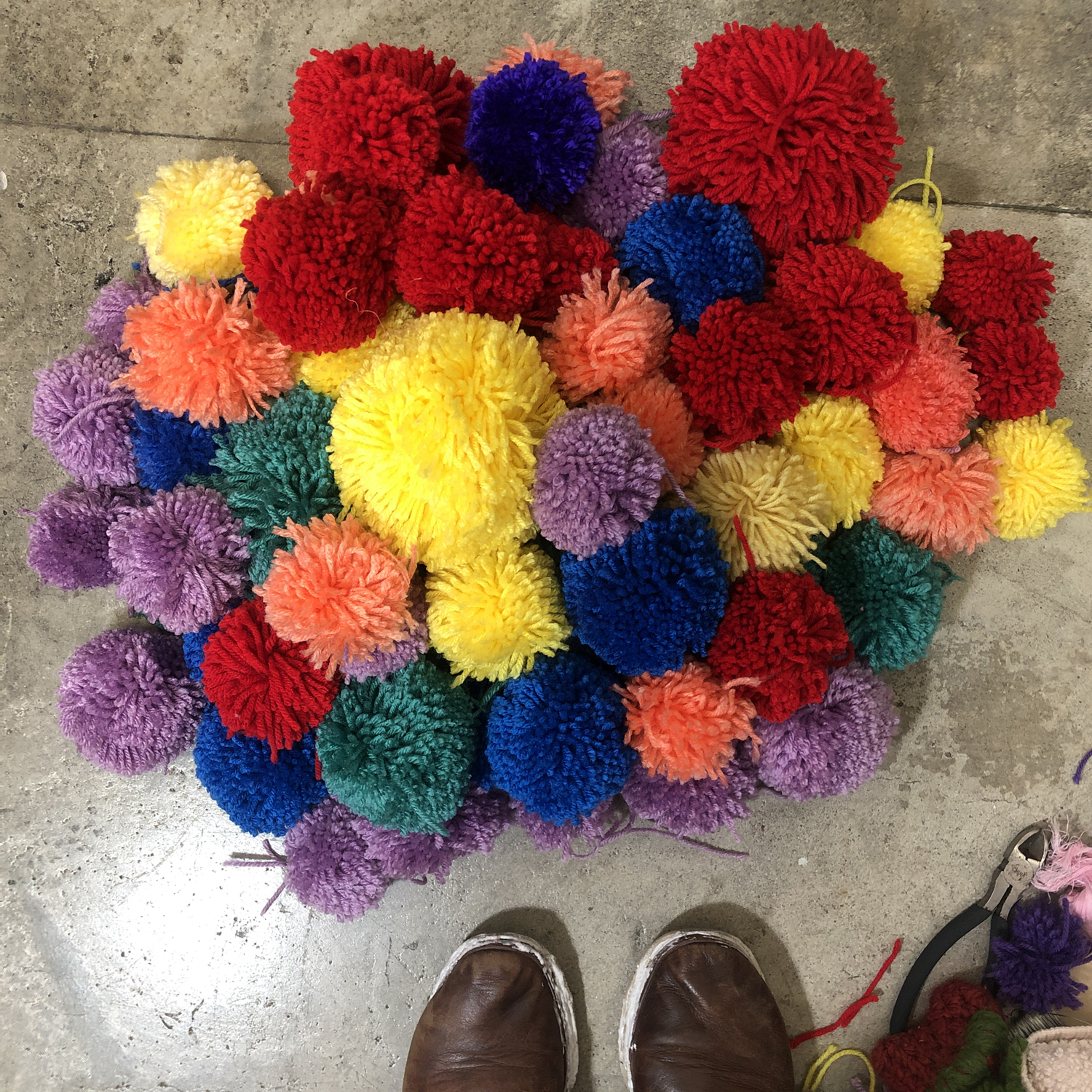 Finished Pom-Poms
