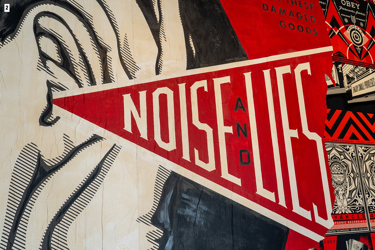 Noise & Lies by Shepard Fairey, detail