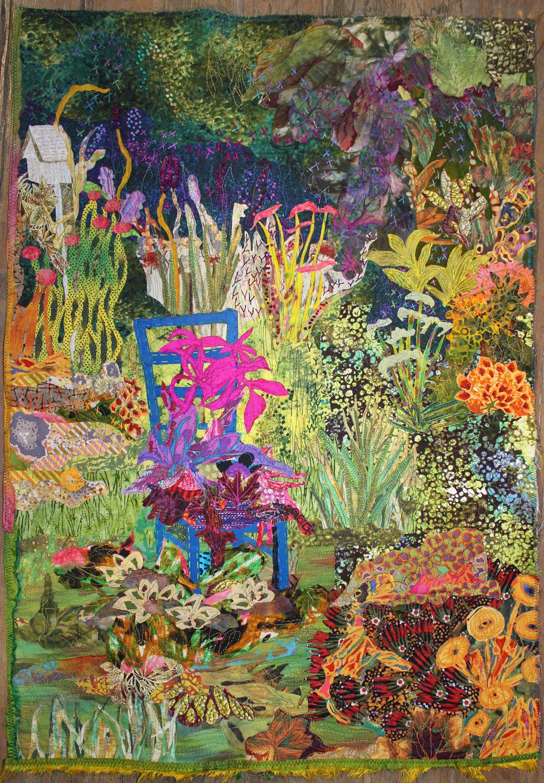 """Annette Friedlein, Blue Chair, 2016, 31"""" x 21.5""""."""