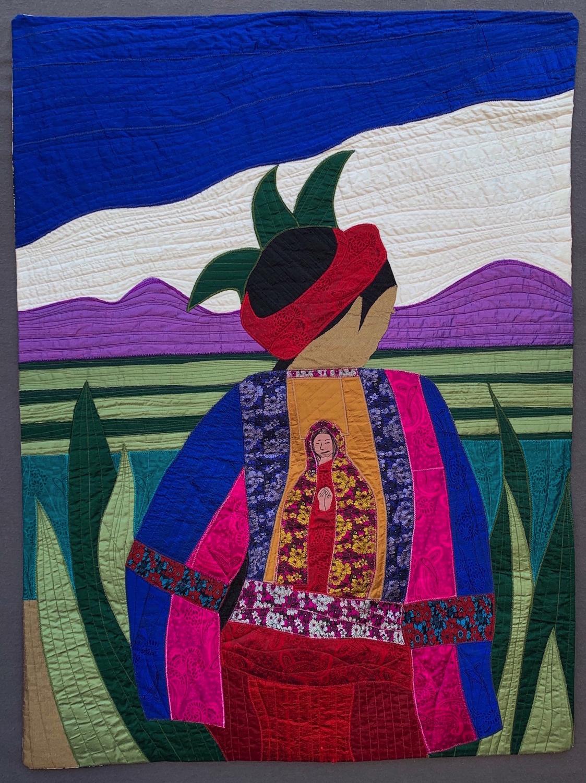 """Cuauhtémoc Kish, Cactus Woman, 2019, 39.5"""" x 29.5""""."""