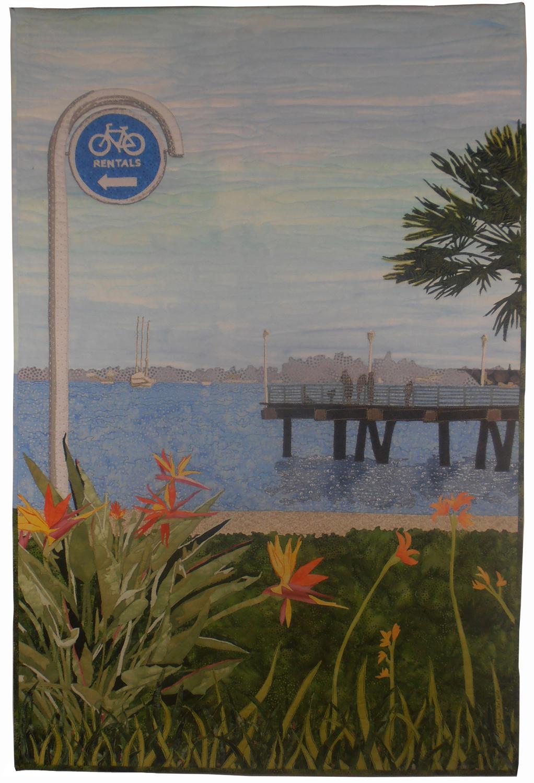 "Kathleen McCabe, Coronado at the Landing, 2016, 48"" x 32""."