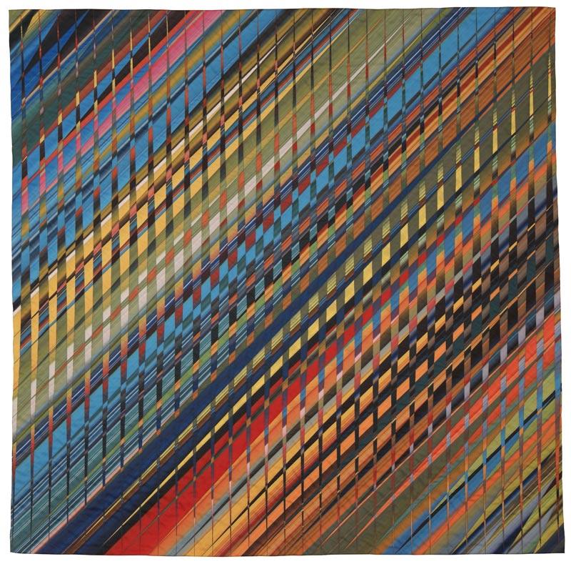 """Dan Olfe, Color Square #9, 2019, 58"""" x 58""""."""