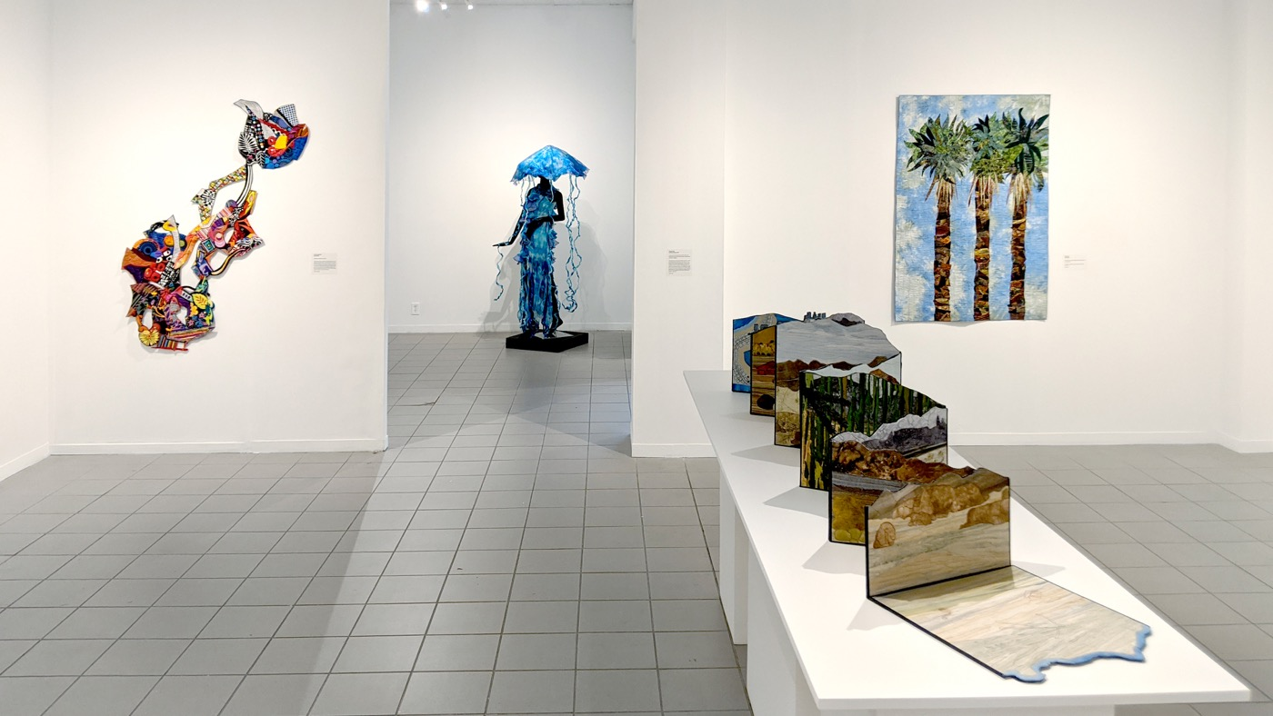 Southern California Contemporary Quilts gallery installation