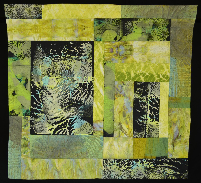 """Jeanne Surber, Elemental, 2017, 34.5"""" x 36.5""""."""