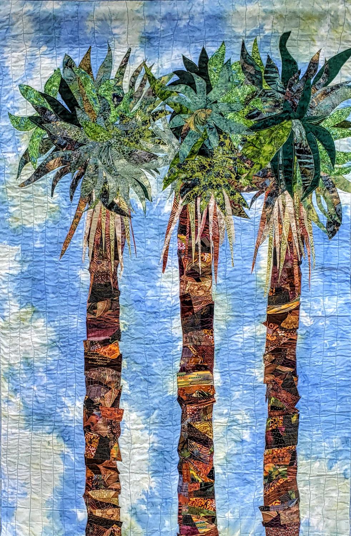 """Del Thomas, Palms, 2019, 58"""" x 38""""."""